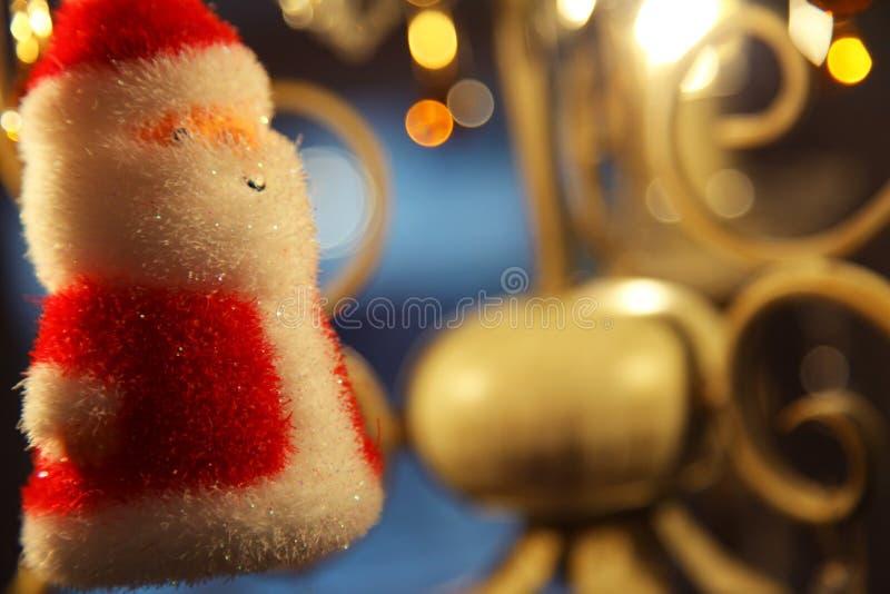 Decoración de santa de la Navidad fotos de archivo libres de regalías