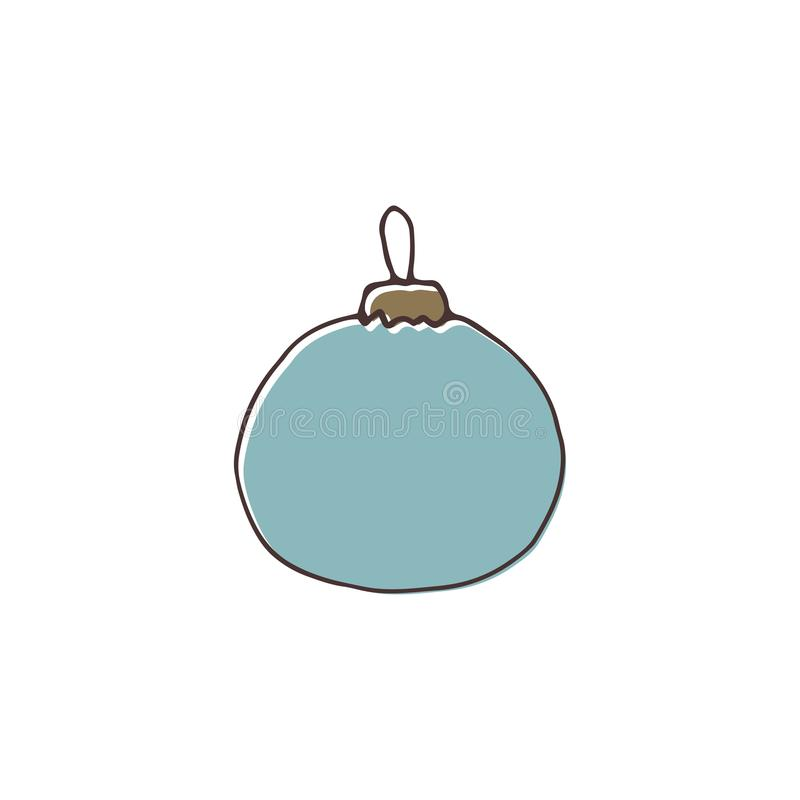 Decoración del árbol de navidad del vector libre illustration