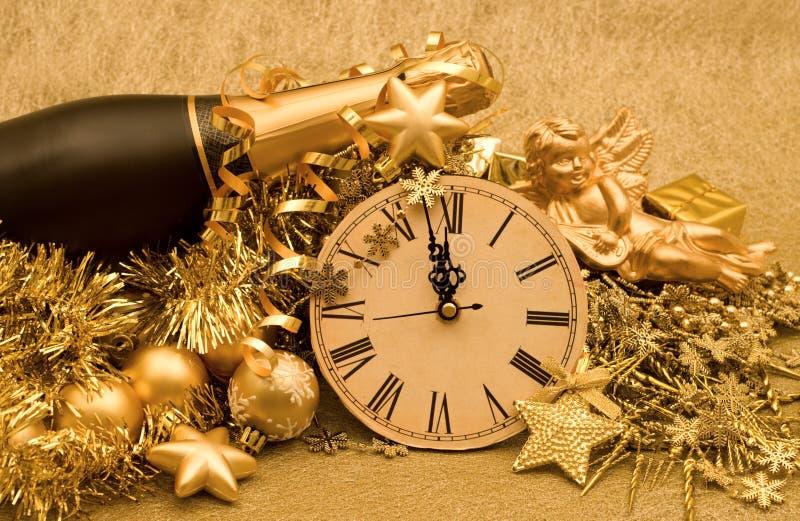 Decoración del Año Nuevo imagenes de archivo