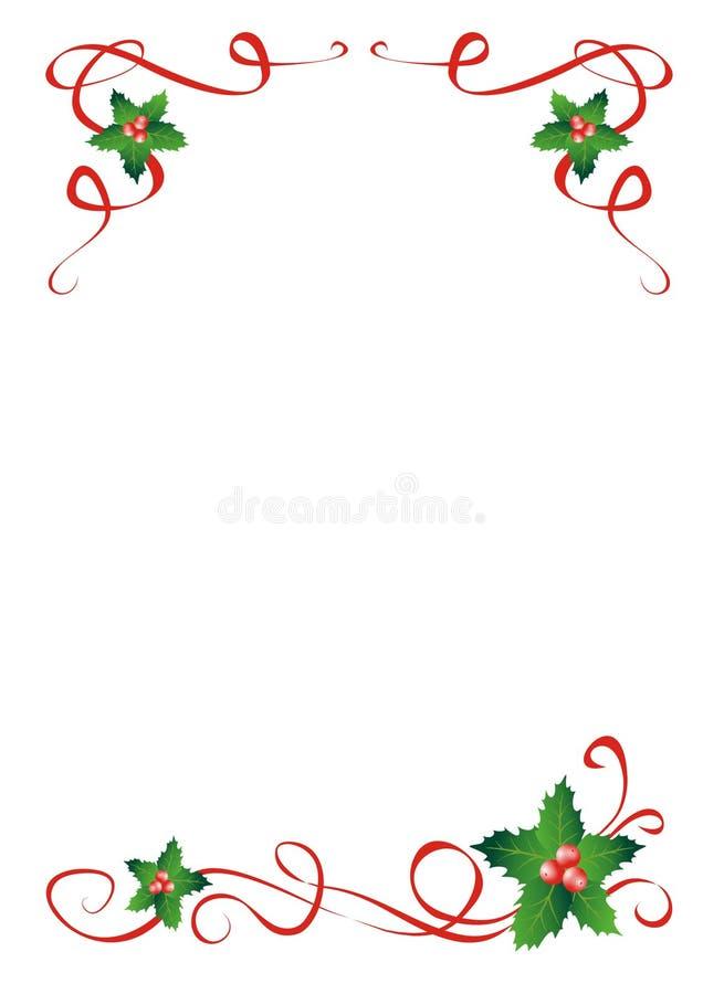 Decoración del acebo de la Navidad foto de archivo libre de regalías