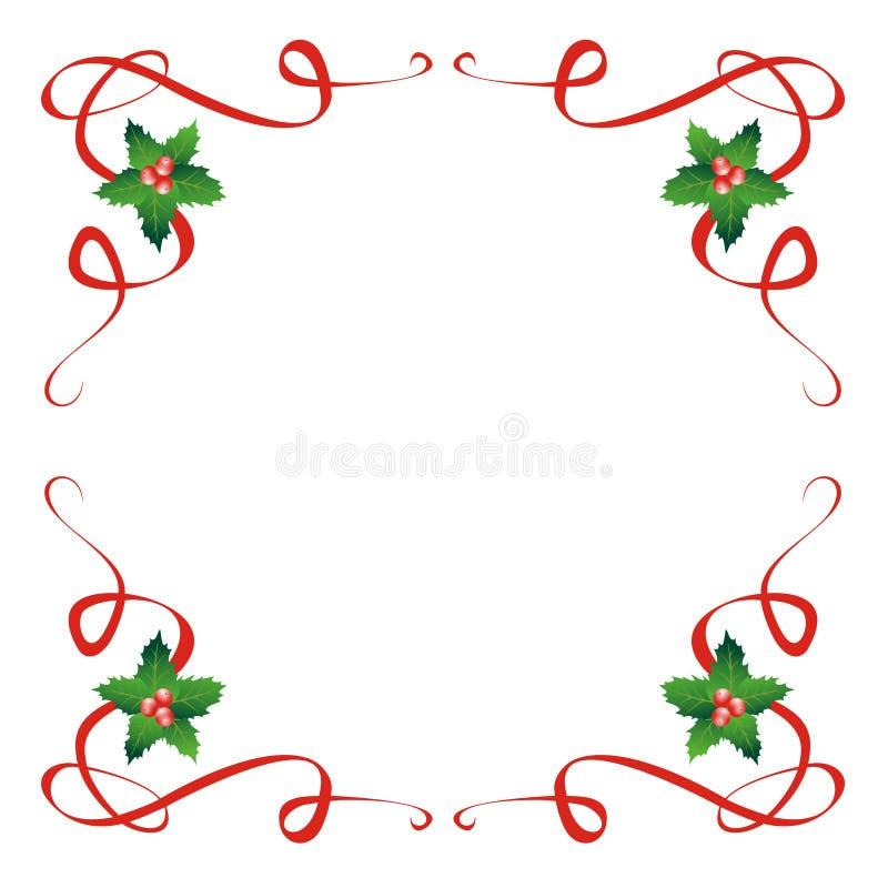 Decoración del acebo de la Navidad fotografía de archivo libre de regalías