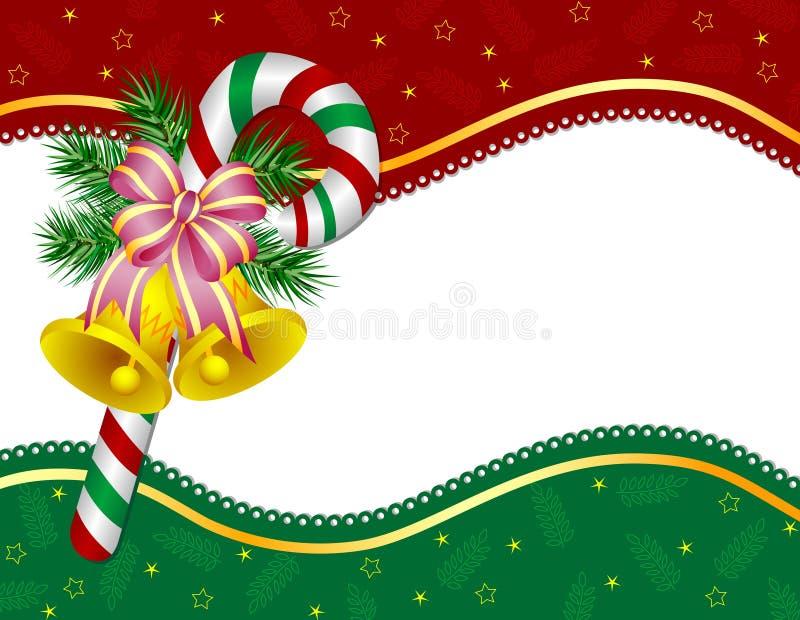 Decoración del acebo de la Navidad ilustración del vector