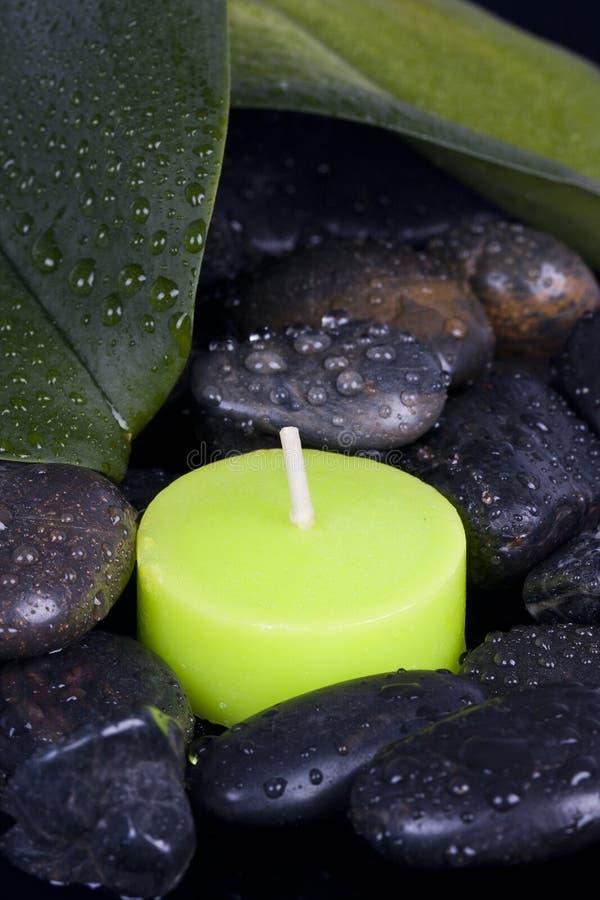 Decoración del balneario de la vela imagen de archivo libre de regalías