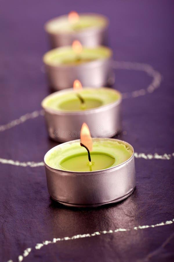 decoración del balneario de la vela del té imagen de archivo libre de regalías