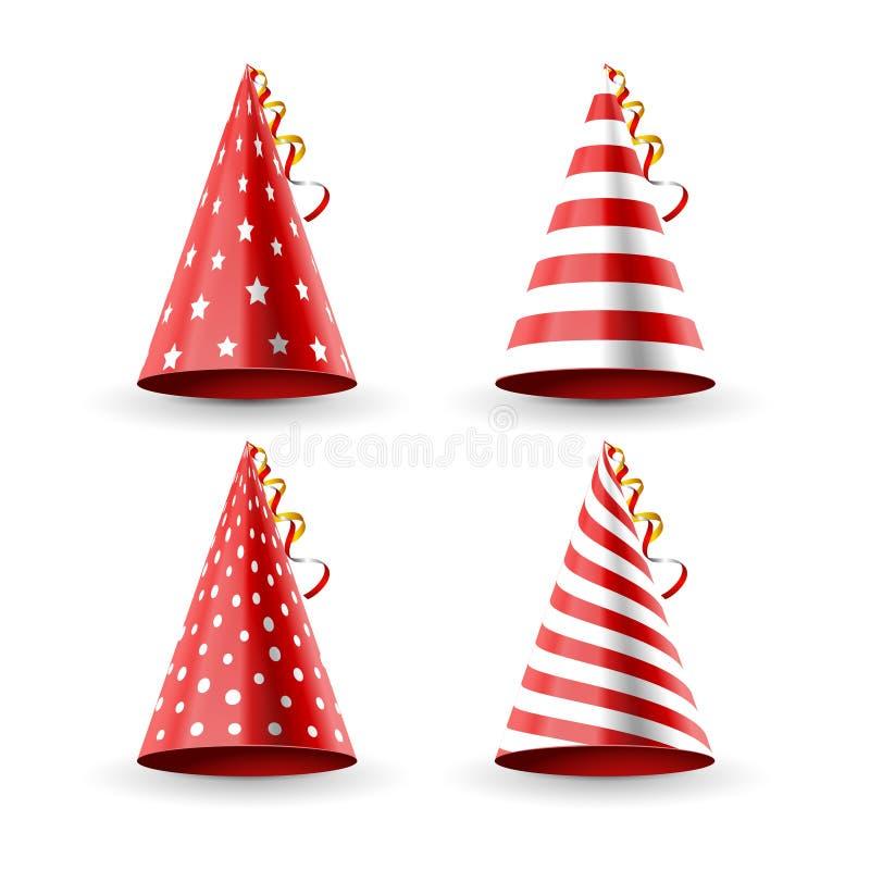 Decoración del cumpleaños del sombrero del partido Casquillo de la diversión del día de fiesta del partido para el carnaval del c libre illustration
