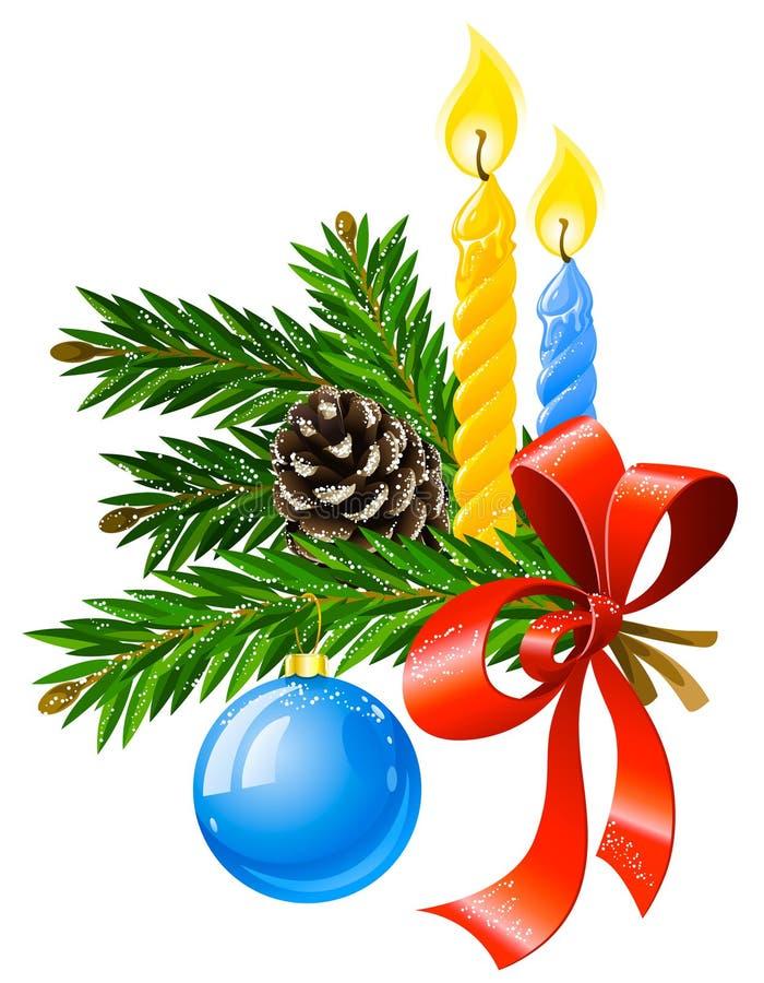 Decoración del día de fiesta de la Navidad del vector ilustración del vector