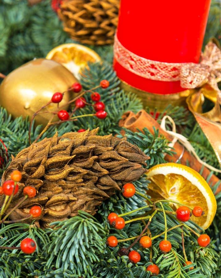 Decoración del día de fiesta de la Navidad y del Año Nuevo imagen de archivo libre de regalías