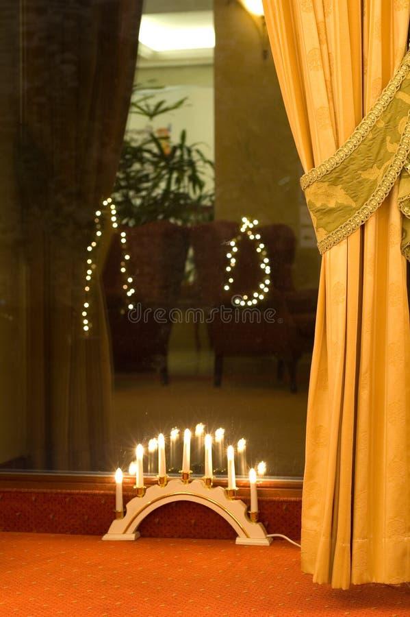 decoración del día de fiesta del salón del hotel foto de archivo libre de regalías