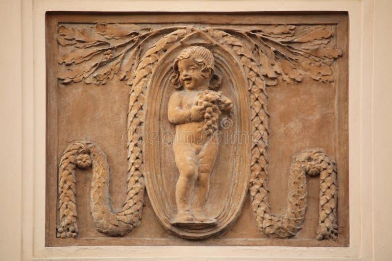 Decoración del edificio de Art Nouveau en Praga, República Checa imágenes de archivo libres de regalías