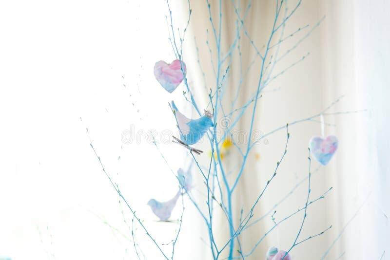 Decoración del estudio de la primavera, colores en colores pastel apacibles imágenes de archivo libres de regalías
