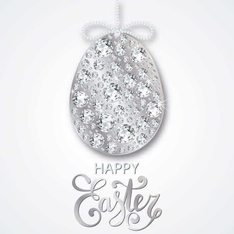 Decoración del huevo de Diamond Easter ilustración del vector