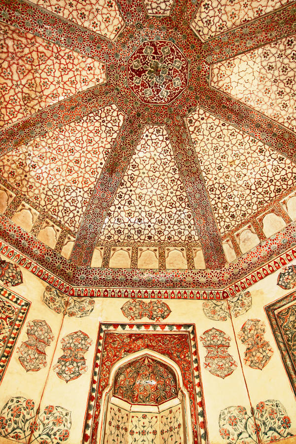 Decoración del Jama Masjid. Fatehpur Sikri fotografía de archivo