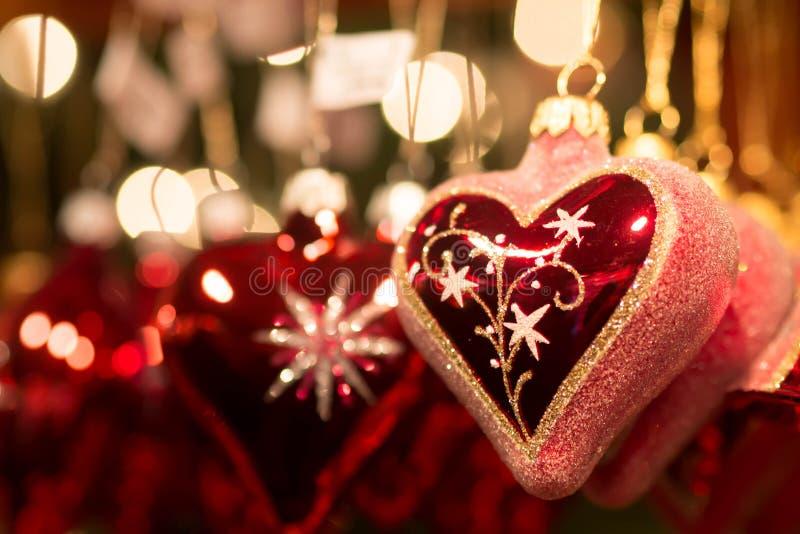 Decoración del mercado de la Navidad de Francfort imagen de archivo