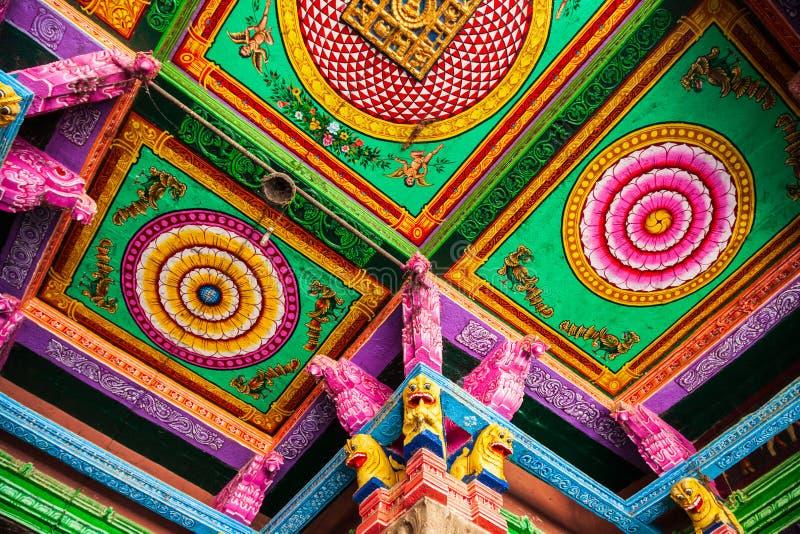 Decoración del modelo del templo de Meenakshi fotos de archivo