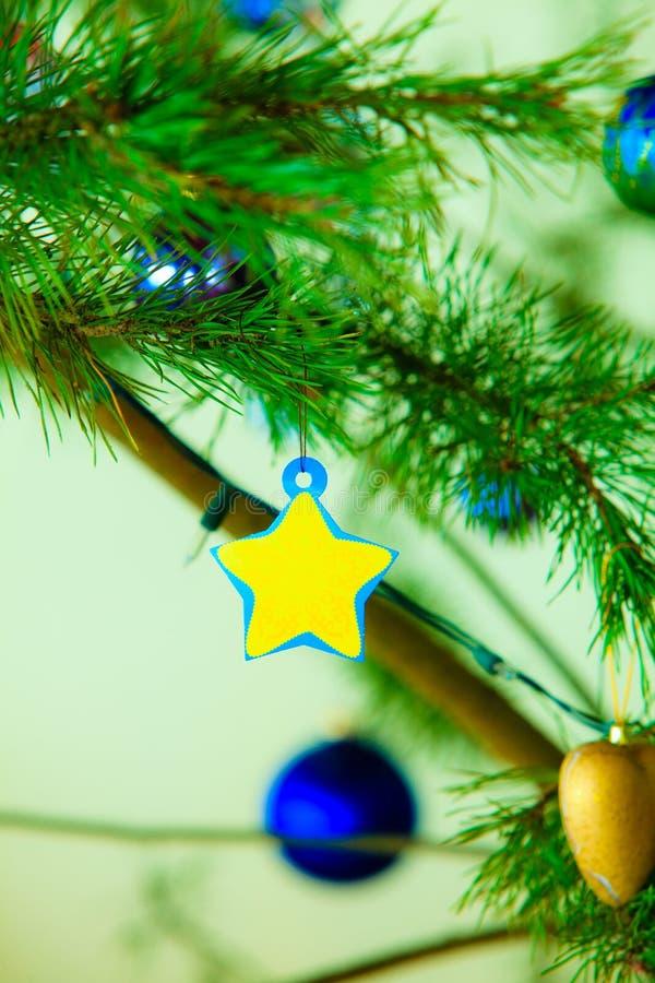 Decoración del ornamento del árbol de navidad de la chuchería del primer fotografía de archivo