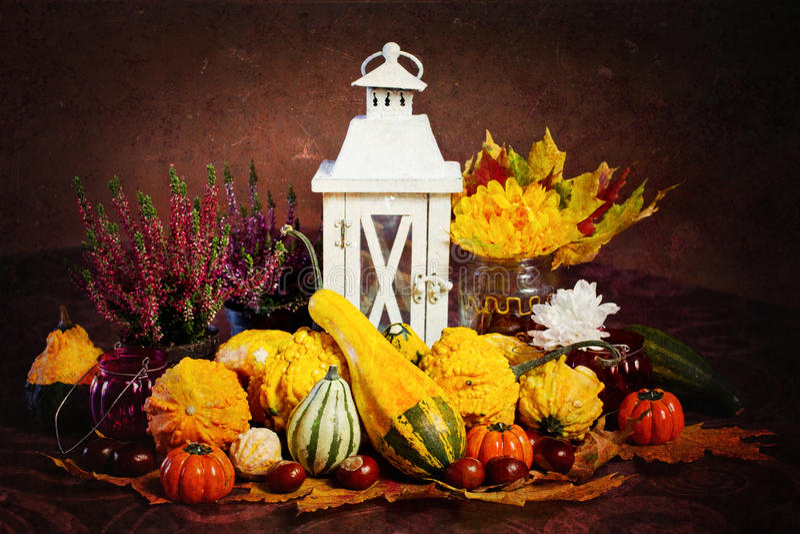 Decoración del otoño, estilo de la vendimia fotografía de archivo