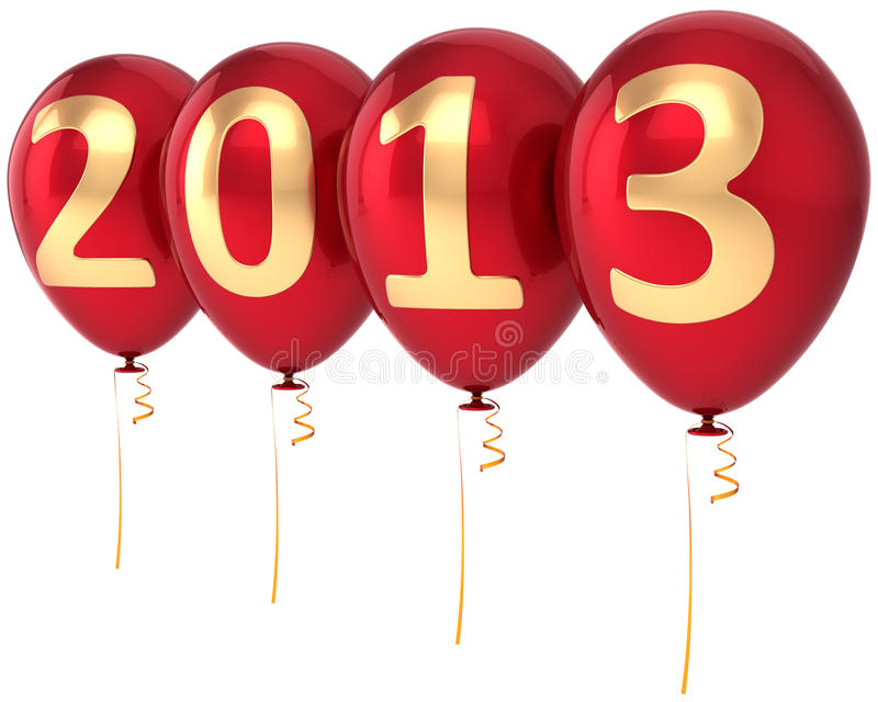 Decoración del partido de los globos del Año Nuevo 2013 libre illustration
