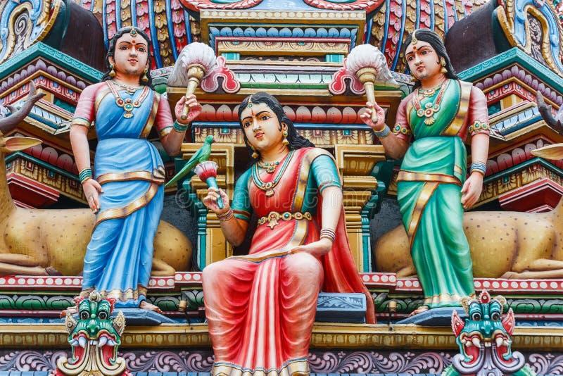 Decoración del templo hindú fotografía de archivo libre de regalías