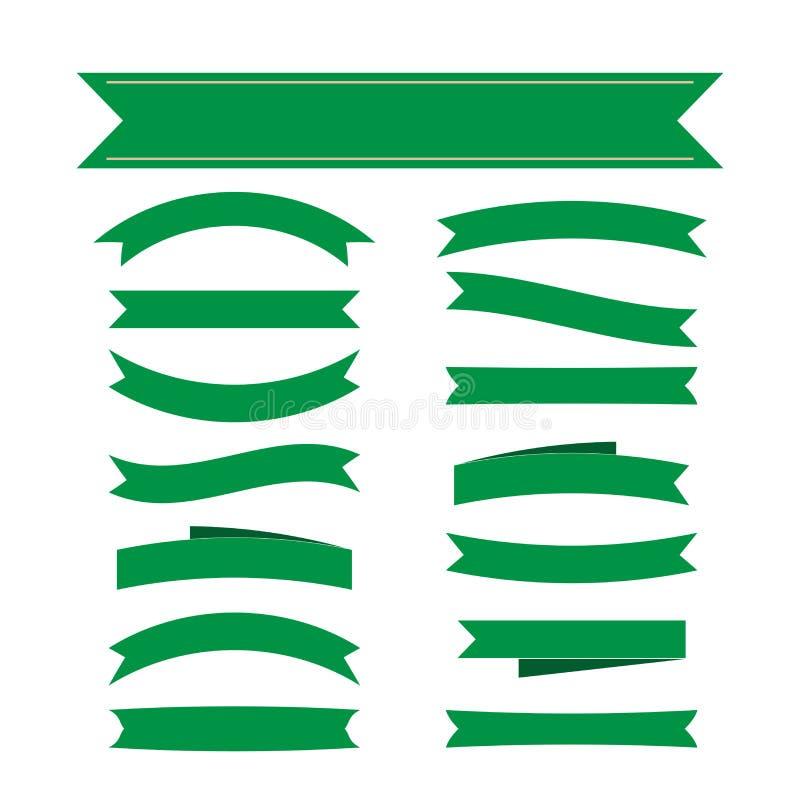 Decoración determinada de las banderas verdes de la cinta libre illustration