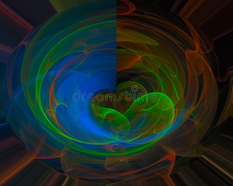 Decoración digital abstracta del hermoso diseño del efecto de la decoración de la textura del modelo del fractal, contexto stock de ilustración