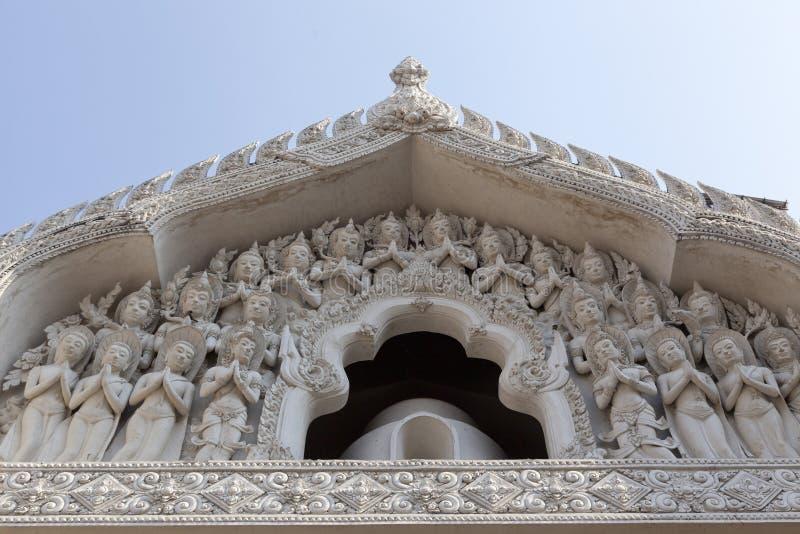 Decoración en el templo fotografía de archivo