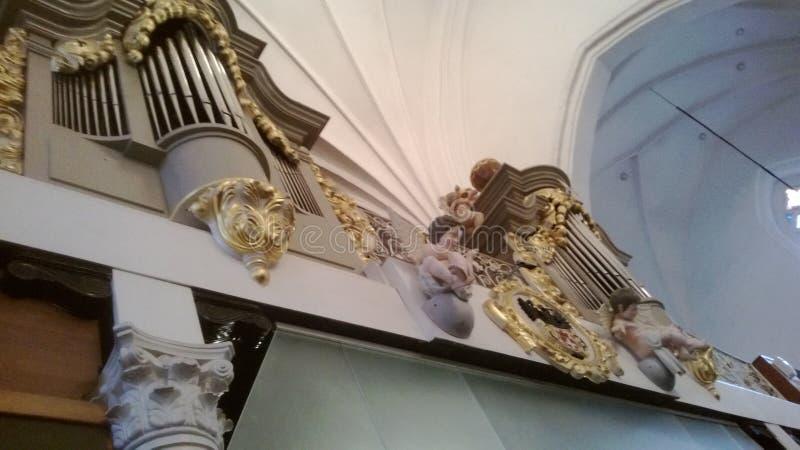 Decoración en la catedral fotografía de archivo libre de regalías