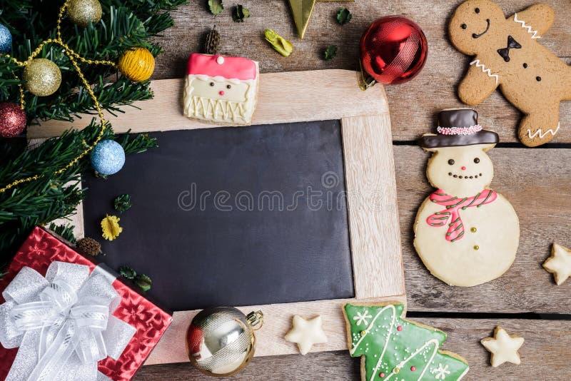 Decoración festiva, galleta de la Navidad y Año Nuevo en la forma o fotografía de archivo