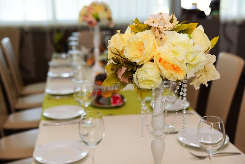 Decoración floral de la boda fotografía de archivo