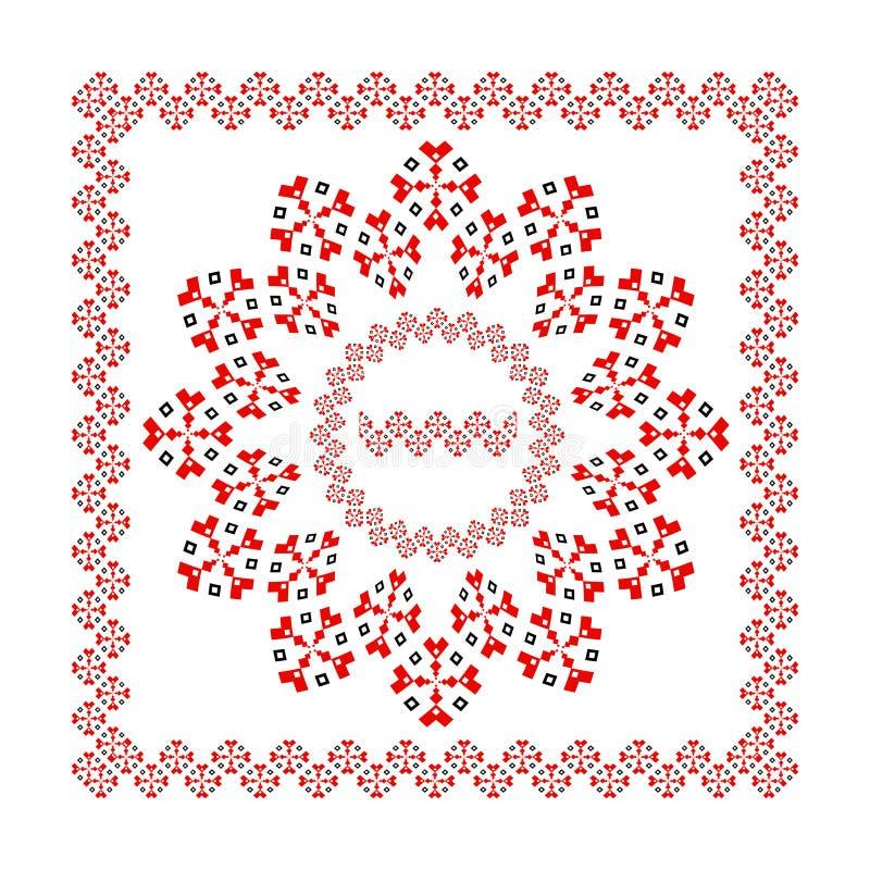 Decoración geométrica del diseño del vector del marco del ornamento ilustración del vector
