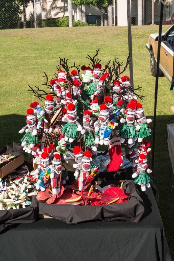Decoración hawaiana de Santa Claus en la reunión de intercambio de Maui imágenes de archivo libres de regalías