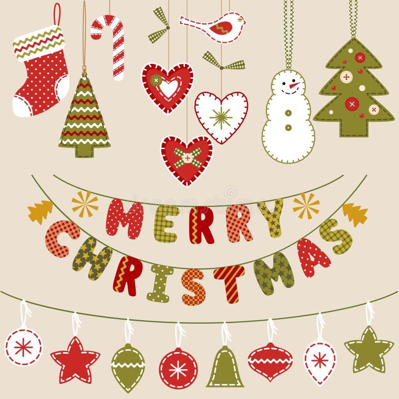 Decoración hecha a mano de la Navidad libre illustration