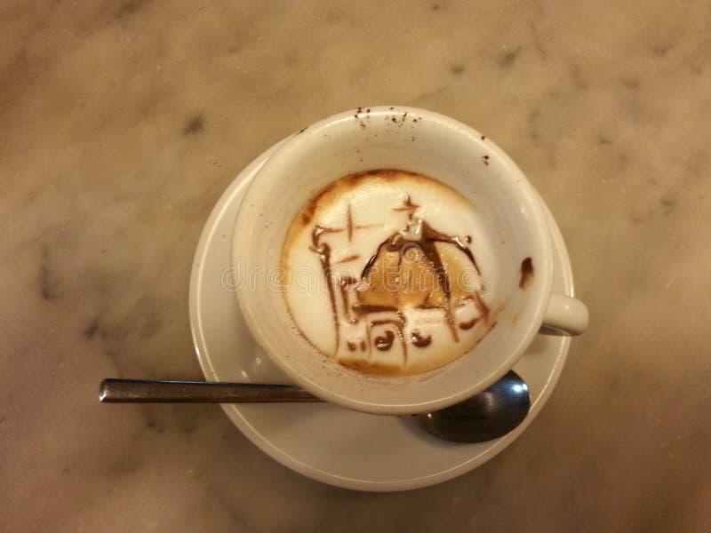 Decoración increíble de la taza de caffee fotografía de archivo libre de regalías