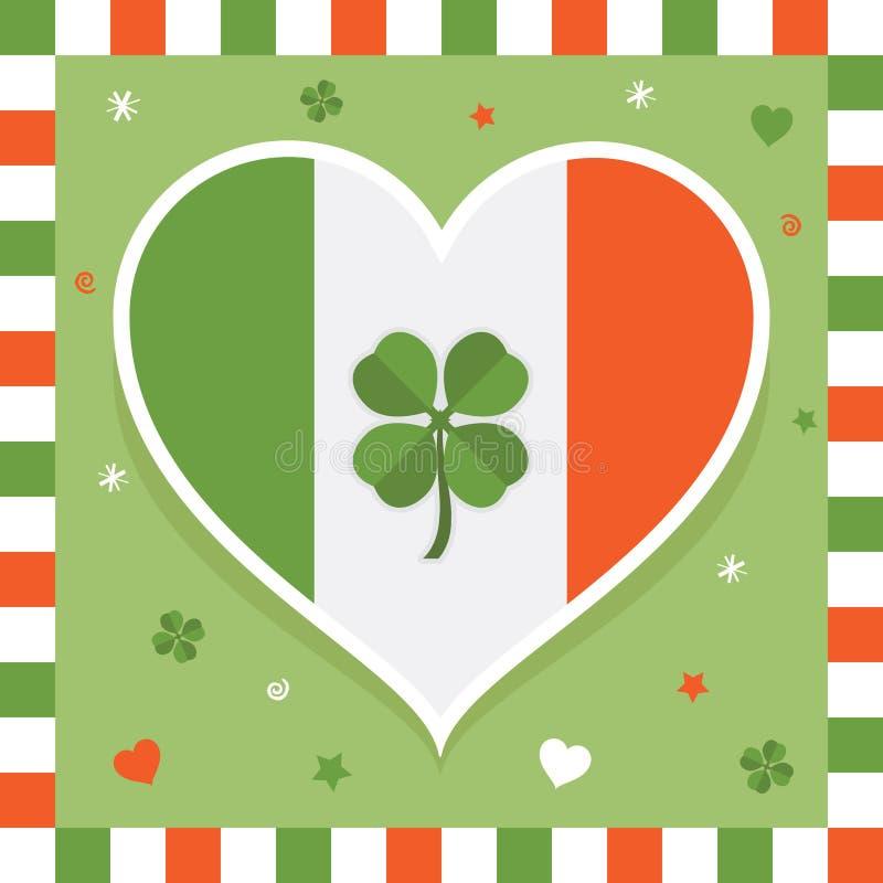 Decoración irlandesa stock de ilustración