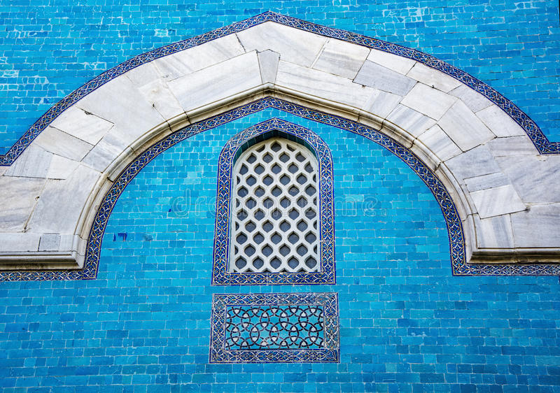 Decoración islámica (mausoleo verde, Bursa, Turquía) foto de archivo libre de regalías