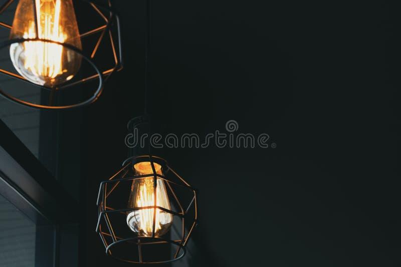 Decoración ligera de lujo de la ejecución de la lámpara del vintage hermoso imagen de archivo