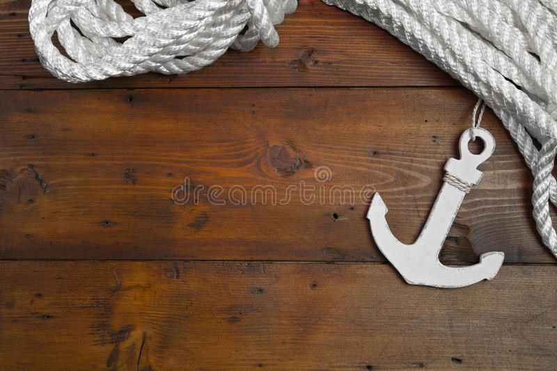 Decoración marítima del ancla fotos de archivo libres de regalías