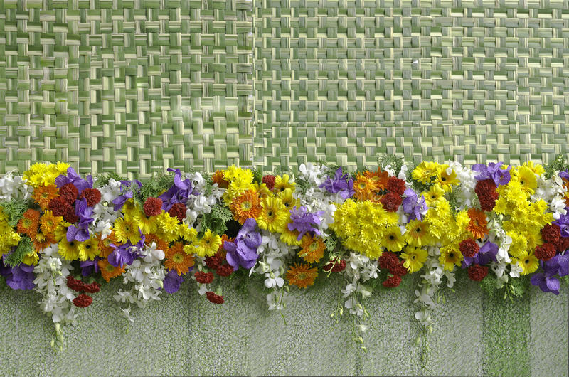 Decoración mezclada colorida de las flores foto de archivo libre de regalías