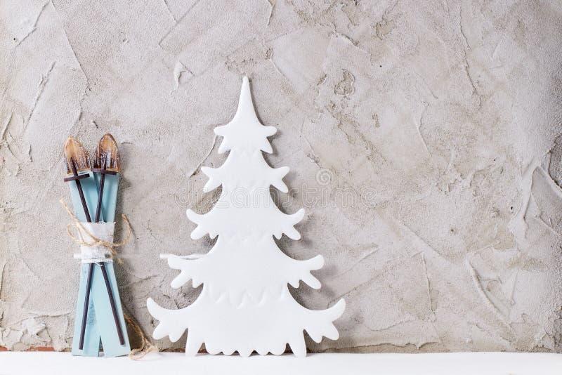 Decoración moderna de la Navidad foto de archivo libre de regalías