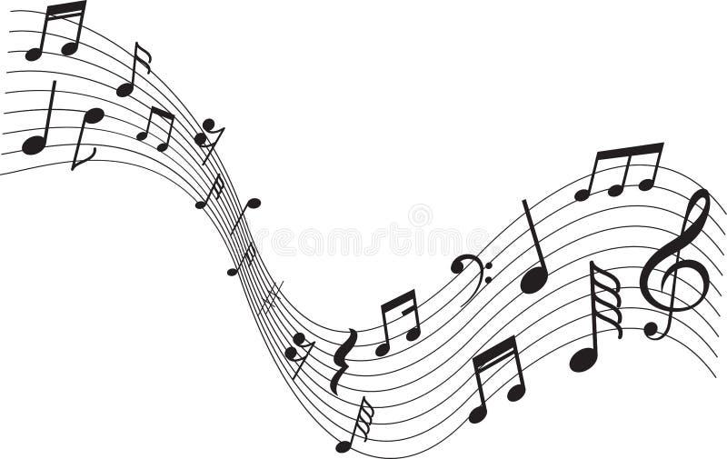 Decoración musical de la nota de la muestra libre illustration