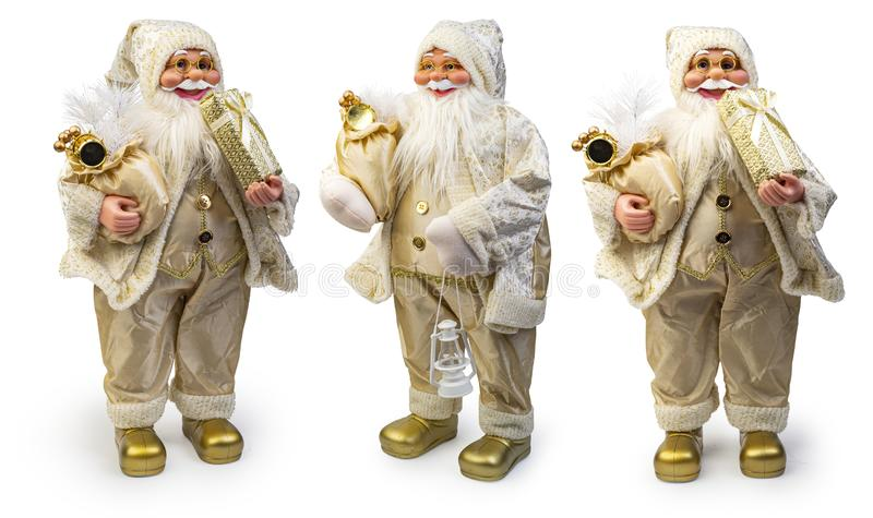 Decoración navideña de Santa Claus sobre fondo blanco, Ruta de recorte incluida fotos de archivo