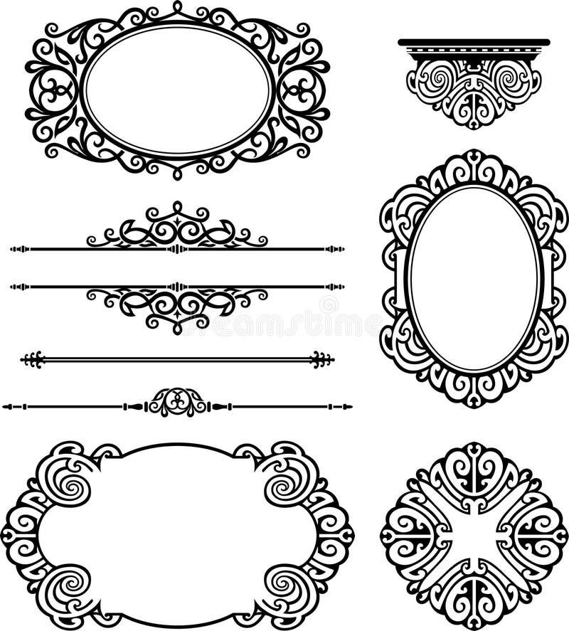 Decoración ornamental del diseño stock de ilustración