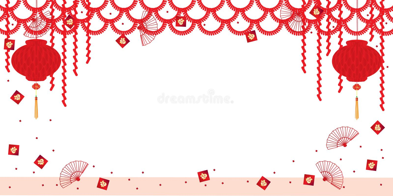 Decoración plástica de la bandera de la abertura de la linterna china libre illustration