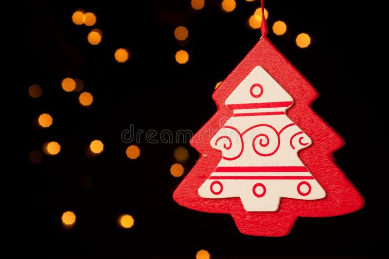 Decoración roja del árbol de navidad foto de archivo libre de regalías