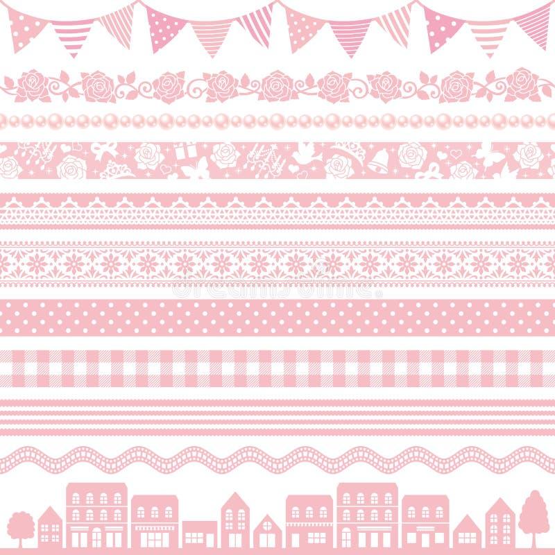 Decoración rosada stock de ilustración
