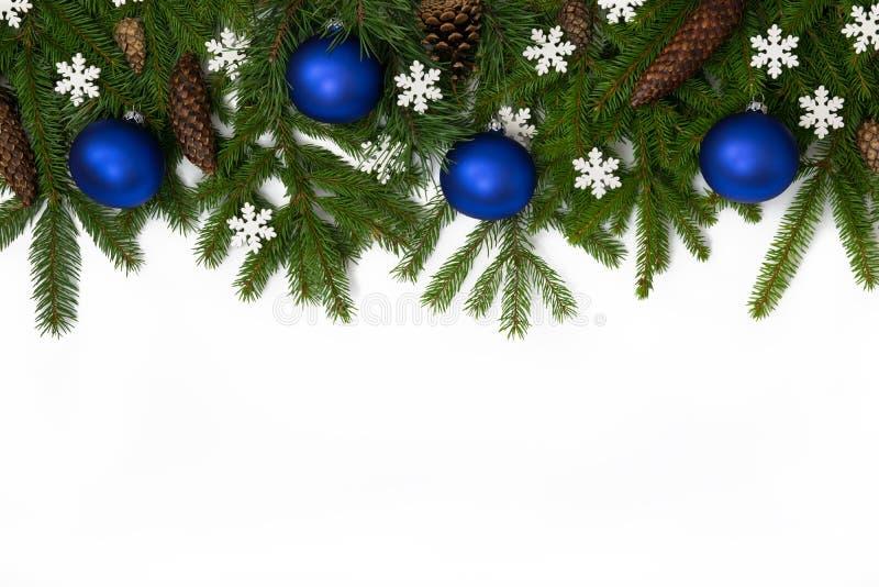 Decoración superior 5 de la Navidad azul imagenes de archivo
