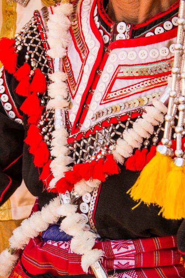 Decoración tailandesa del vestido de la tribu foto de archivo libre de regalías