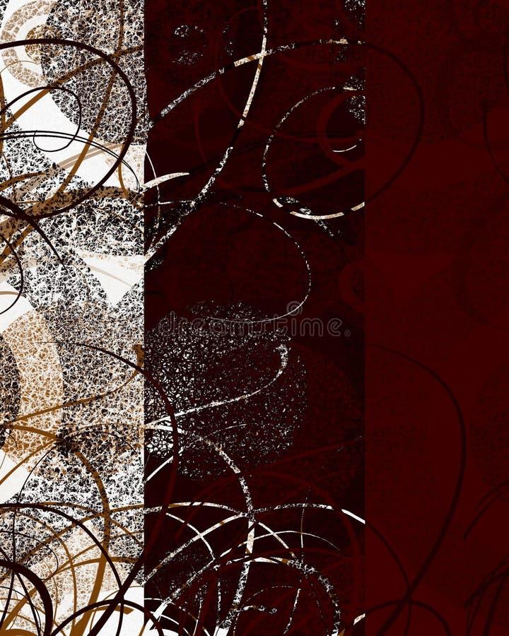 Decoración Textured del remolino stock de ilustración