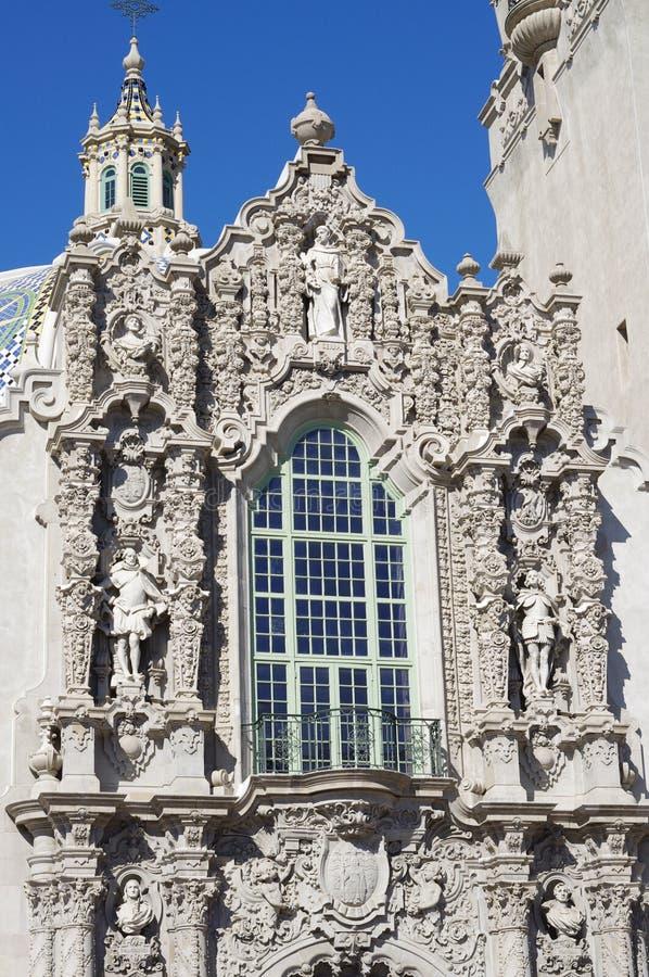 Decoración viva en el edificio de California en el parque del balboa, San Diego imagen de archivo libre de regalías