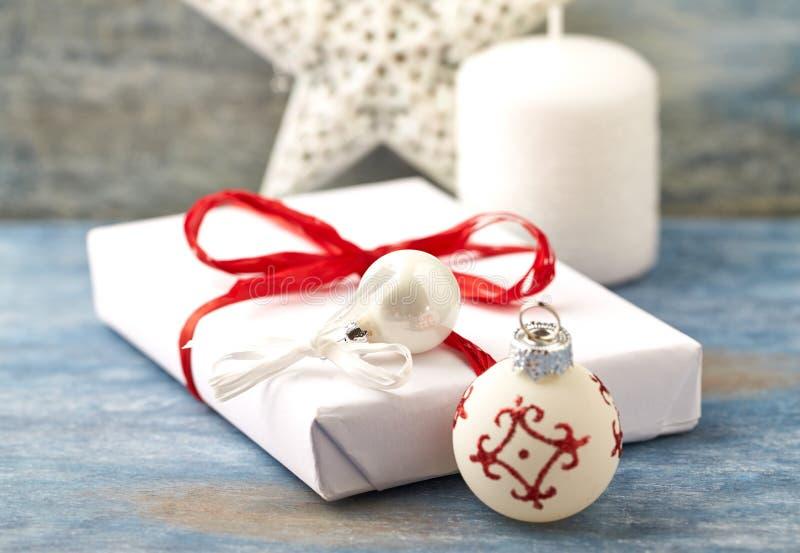 Decoración y regalo de Navidad de la Navidad foto de archivo libre de regalías