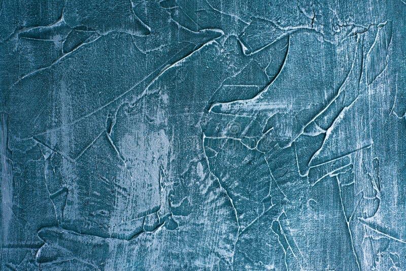 Decoraci?n veneciana del fondo del yeso del grunge de la textura incons?til azul dram?tica de la piedra fotografía de archivo